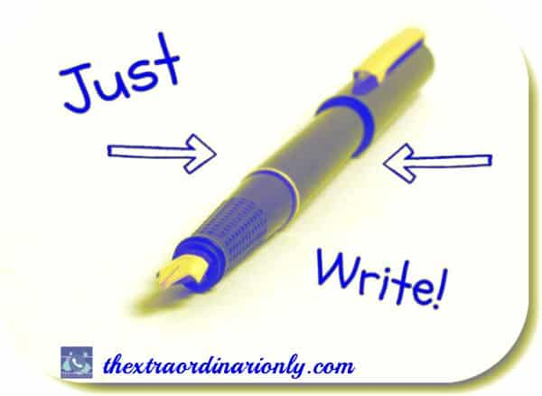 thextraordinarionly just write, write great content, how to write great content by author hazlo emma