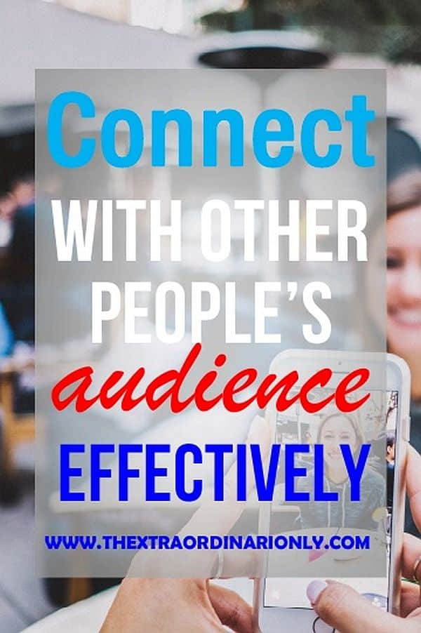 thextraordinarionly connect with other peoples audience pin