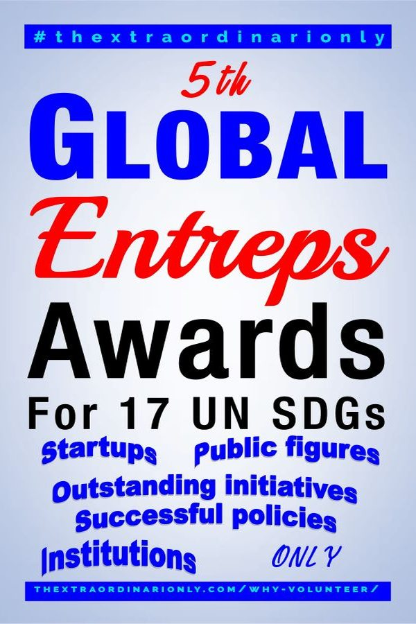 thextraordinarionly-why-volunteer-5th-global-entreps-awards-blog-post-by-Hazlo-Emma.jpg. featured image why volunteer blog post, 17 UN SDGs, Global Juror, Nominate candidates, EntrepsAwards, 5GCitizens, bethechange
