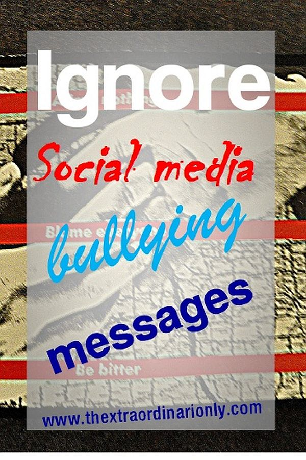 thextraordinarionly ignore social media bullying messages pin