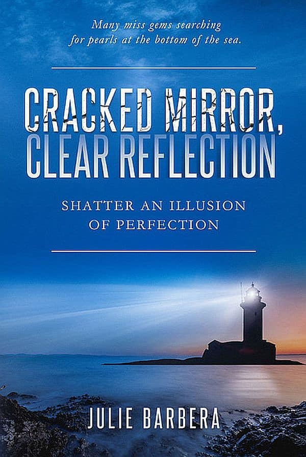 book re book blogger Haview of cracked mirror clear reflection Shatter an Illusion of Perfection by Julie Barbera