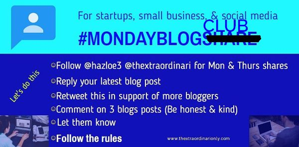 thextraodinarionly monday blog club for attention traffic and higher rankings blog post by Hazlo Emma