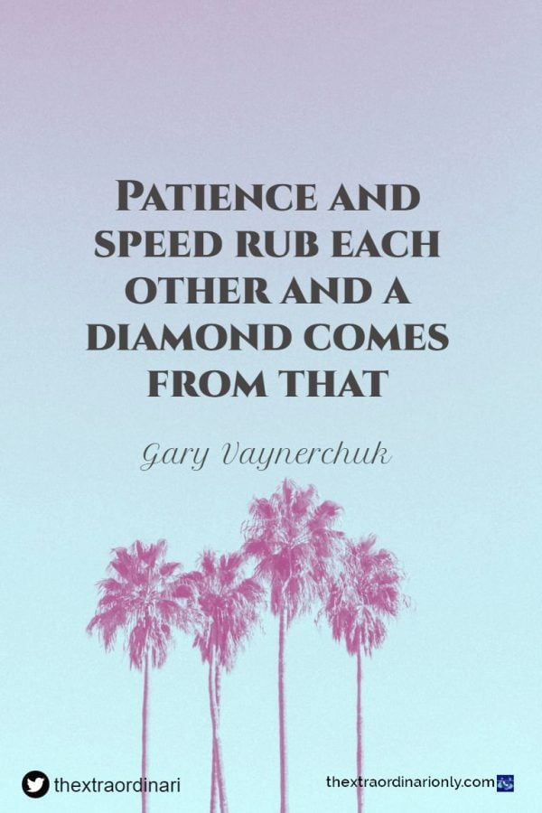 thextraodinarionly patience and speed quote by Gary Vaynerchuk in Year 2020 of unsurpassed success blog post by Hazlo Emma