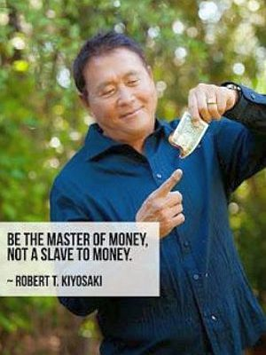 thextraordinarionly be the master of money quote by Robert Kiyosaki