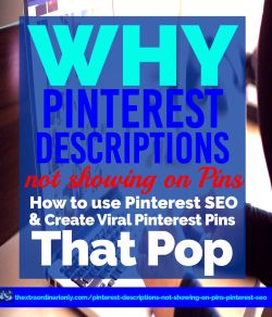If your Pinterest Descriptions are not showing on pins, you are not aone. Have you checked for other scripts? Did you edit the Pinterest attributes? Find out NOW.