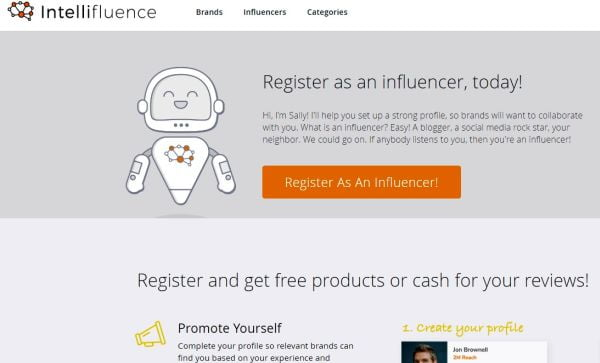 Register as an Influencer today at Intellifluence