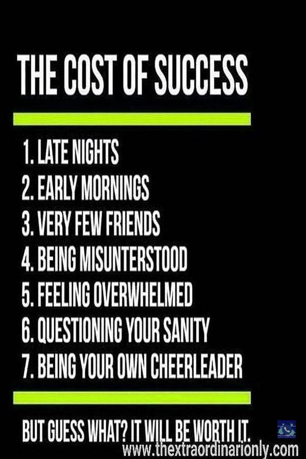 thextraordinarionly cost of success, 7 facts