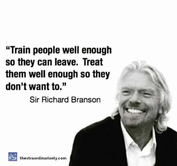 thextraordinarionly train people well and treat people well quote by Richard Branson in 15 global competencies for a global leader blog post by hazlo emma